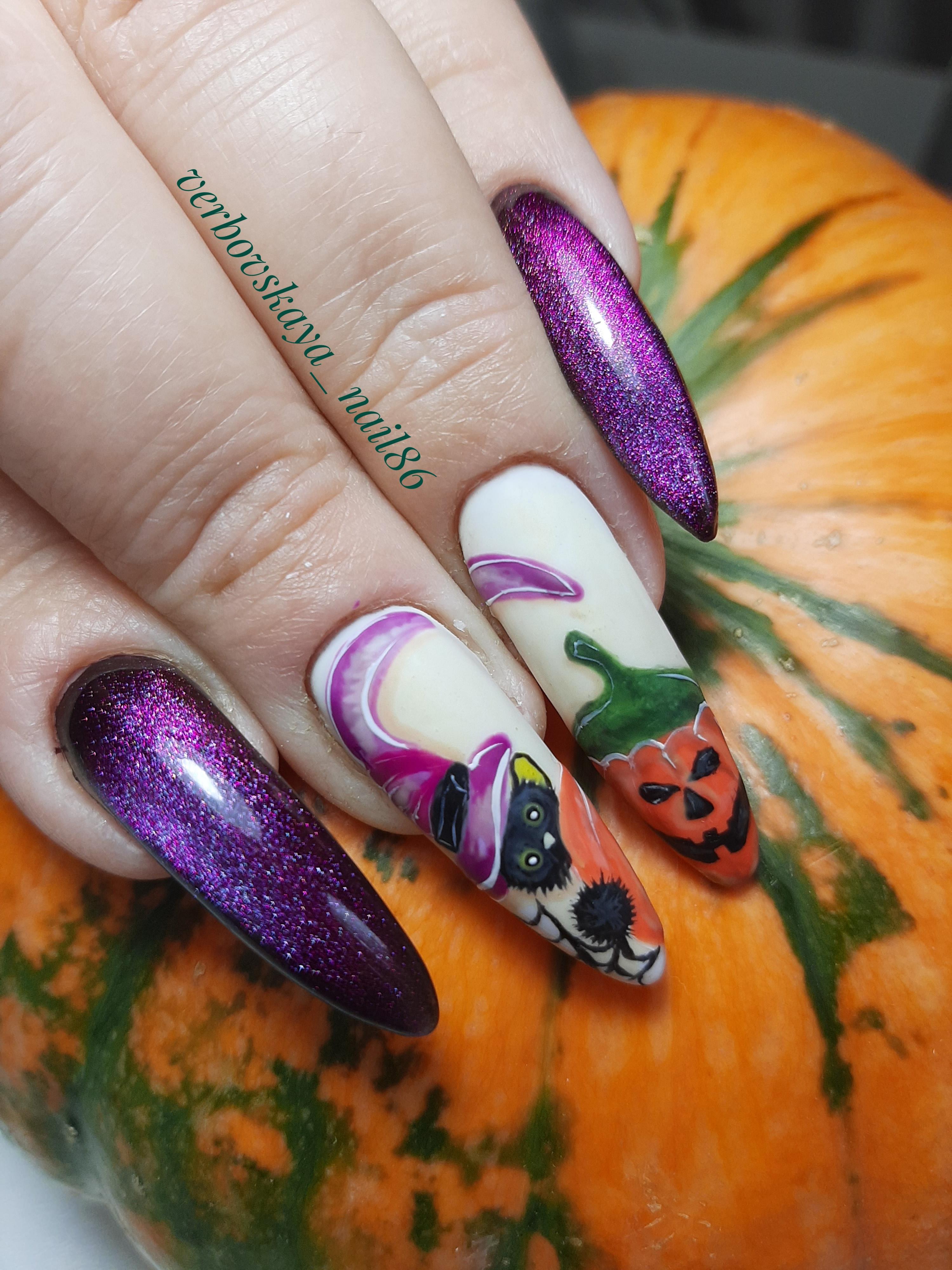 Дизайн ногтей хелуин