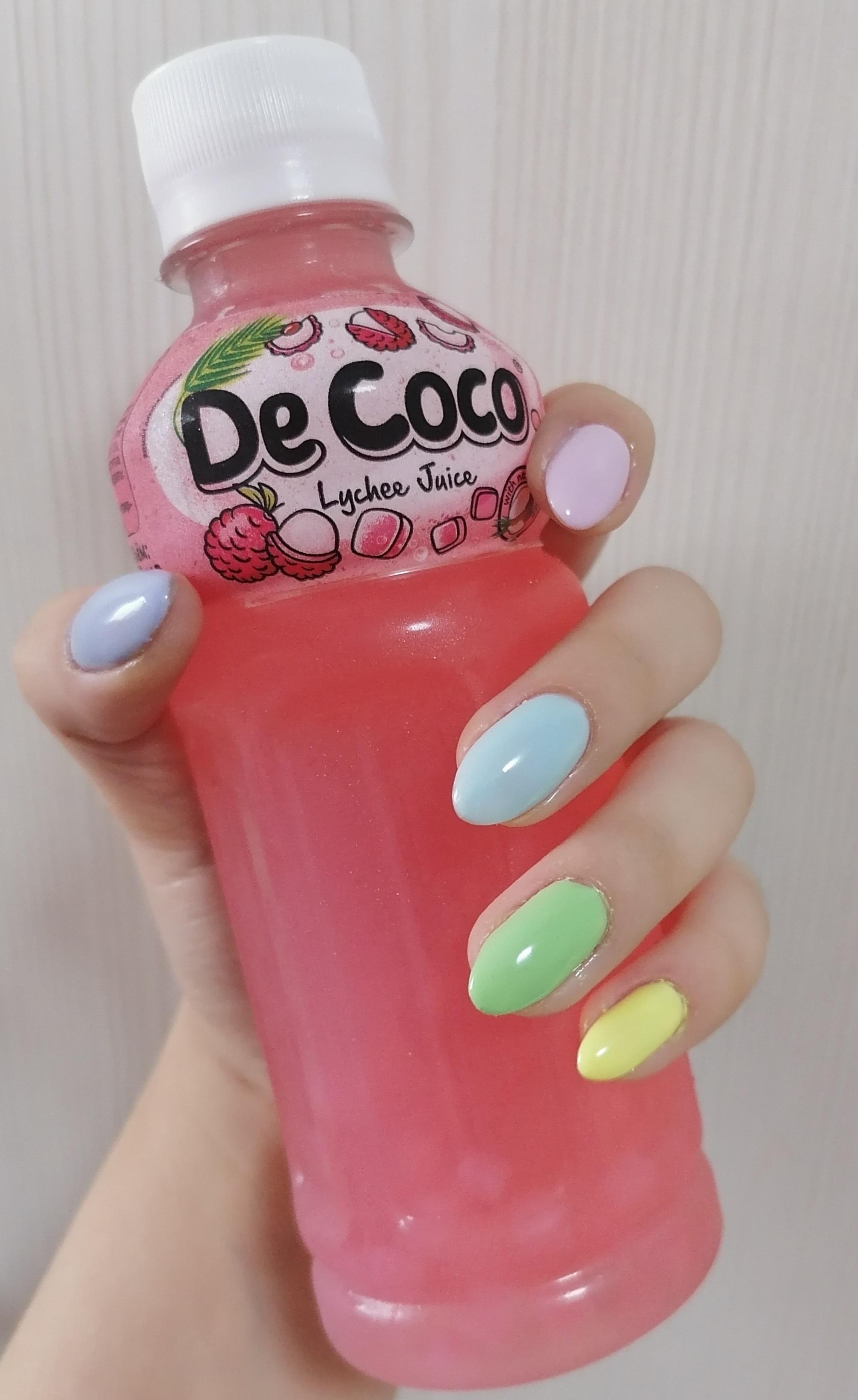 Разноцветный маникюр на короткие ногти.