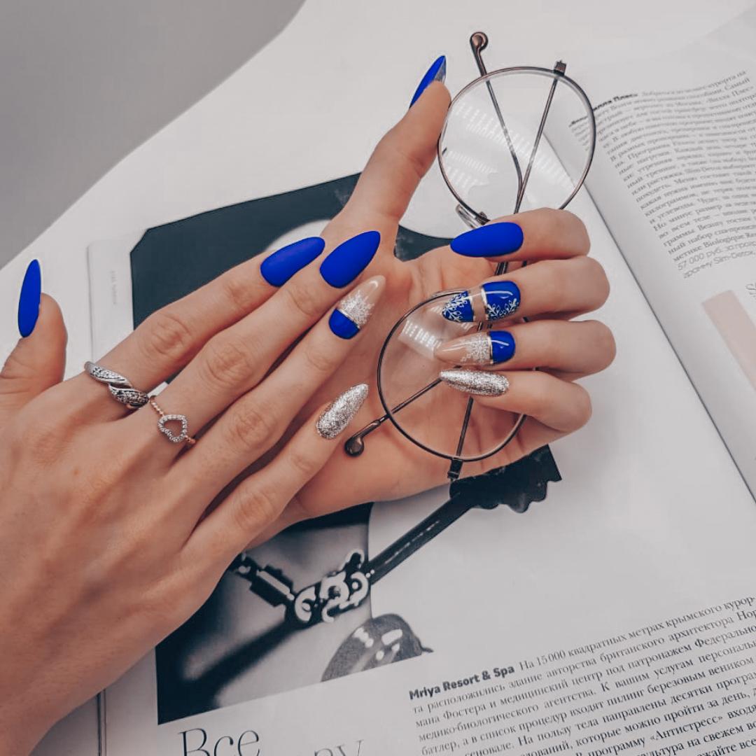 Маникюр + наращивание ногтей + дизайн